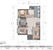 医大广场3室2厅2卫106平方米户型图