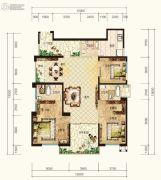 湘江壹号3室2厅2卫198平方米户型图