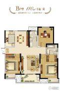 和昌林与城3室2厅2卫110平方米户型图