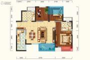 新城吾悦广场3室2厅2卫88平方米户型图