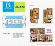 宁德・天茂城市广场2室2厅2卫47平方米户型图