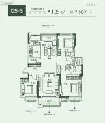 建业春天里3室2厅2卫0平方米户型图