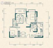 恒大世纪城2室2厅1卫69平方米户型图