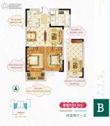 嵛景华城・心领地2室2厅1卫65平方米户型图