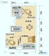 海岸国际2室2厅1卫78平方米户型图