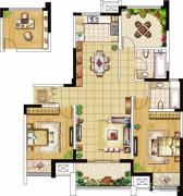 绿洲天逸城3室2厅2卫125--128平方米户型图
