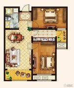 广厦财富中心2室2厅1卫91--92平方米户型图