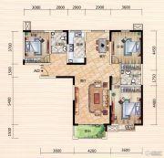 世界城3室2厅2卫138平方米户型图