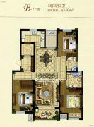 金鹰国际花园3室2厅2卫140平方米户型图