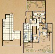 东方今典4室2厅2卫166平方米户型图