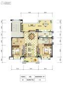 邻悦雅苑4室2厅2卫140平方米户型图