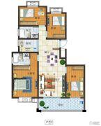富源尚城4室2厅2卫127平方米户型图