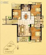 金紫世家3室2厅2卫127平方米户型图