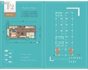 华润・中央公园1室1厅1卫46平方米户型图