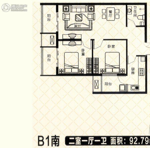 砥柱大厦B-1南3室2厅1卫1厨136㎡