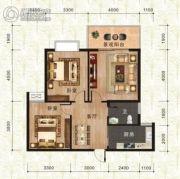 万佳一品・尚书茗苑2室2厅1卫79平方米户型图