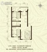 新城国际2室2厅1卫77--80平方米户型图