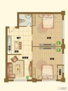 港基中心2室2厅0卫105平方米户型图