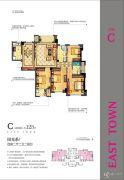 中联东郡4室2厅2卫123平方米户型图