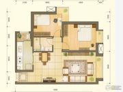 宏利大厦2室2厅1卫98平方米户型图
