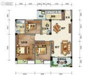 荣华山庄二期温情港湾3室2厅2卫103平方米户型图