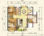 万达西双版纳国际度假区2室2厅1卫76平方米户型图