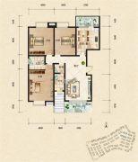 富杰・水岸家园3室2厅2卫138平方米户型图