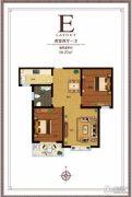尚东金汇2室2厅1卫98平方米户型图
