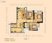 华融现代城3室2厅1卫0平方米户型图