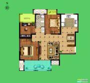 荣盛花语城3室2厅1卫92平方米户型图