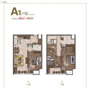 边城・悦都荟4室2厅1卫66平方米户型图
