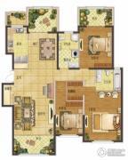 香江湾3室2厅2卫160平方米户型图