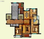 现代大厦3室2厅2卫126平方米户型图