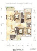 百福豪园4室2厅3卫156平方米户型图