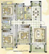 世纪嘉城3室2厅2卫133平方米户型图