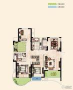 翡丽蓝湾4室2厅2卫143平方米户型图