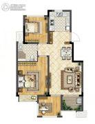 华宇林泉雅舍2室2厅1卫78平方米户型图