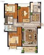 天地源拾锦香都3室2厅2卫119平方米户型图