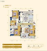 翠湖壹号4室2厅3卫213平方米户型图