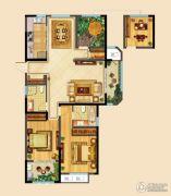 高成天鹅湖3室2厅2卫142平方米户型图
