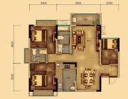 汇乔金色名都3室2厅2卫94平方米户型图