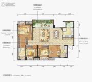万科金域华府3室2厅2卫0平方米户型图