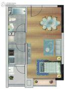 御秀名门1室1厅1卫46平方米户型图