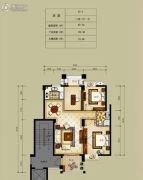 凯旋帝景3室2厅1卫97平方米户型图