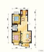 鼎旺90社区2室2厅1卫91平方米户型图