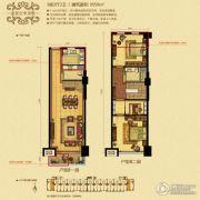 华融和生国际商业广场3室2厅2卫59平方米户型图