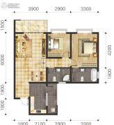 双语雅苑2室2厅2卫77--92平方米户型图
