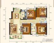 城中半岛3室2厅2卫132平方米户型图