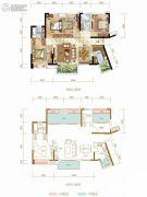 九龙仓时代上城4室2厅2卫112平方米户型图