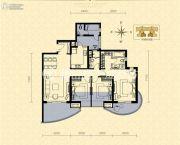 龙湖世纪峰景3室2厅2卫134平方米户型图